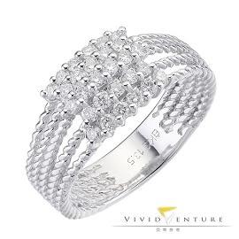 鑽石戒指 拼接50分 線戒 亞帝芬奇 奢華璀璨系列(女)