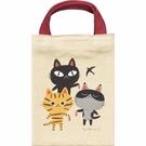 糸井忠晴(知名男作家)舊町屋&貓系列可愛三小貓午餐聚會 迷你小提袋