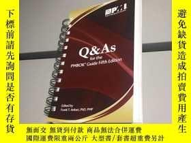 二手書博民逛書店Q罕見& As for the Pmbok Guide Fifth Edition 外文原版 Q & A的項目管理