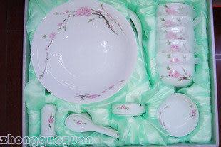 28件瓷器餐具套裝 鳥語花香