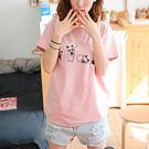 可愛小貓印花寬鬆打底衫 T恤 A0001 ◆ 韓妮小熊