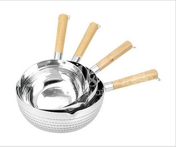 雪平鍋-加厚鋁制日式奶鍋湯鍋煮面鍋煮粥鍋木柄平底鍋牛奶鍋汁鍋【快速出貨】