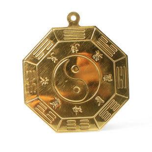 八卦鏡 純銅風水掛件