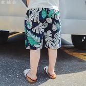 男童短褲男童短褲夏季薄款五分褲胖休閒中大童兒童沙灘褲寬鬆寶寶棉麻外穿 寶貝計畫