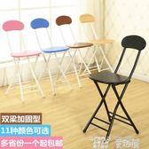 餐椅 摺疊椅子家用餐椅靠背椅培訓椅摺疊凳子圓凳陽台椅宿舍靠椅電腦椅 童趣屋