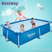 Bestway加大型支架家庭游泳池加高成人充氣泳池兒童戲水池igo 美芭
