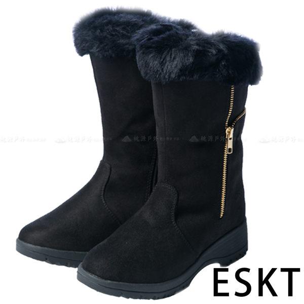 【 ESKT 】女中筒雪鞋『黑色』SN218 雪靴│賞雪必備│附簡易冰爪