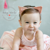 髮帶 貓咪 耳朵 造型 金絲 嬰兒 髮飾 BW