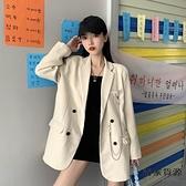 小個子西裝女韓版春秋寬松英倫風氣質小西服上衣外套【毒家貨源】