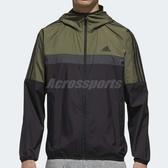 adidas 防風外套 WB Classic 綠 黑 連帽夾克 運動款 男款 【PUMP306】 DH3998