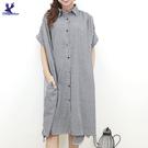 【春夏新品】American Bluedeer - 連袖細格洋裝