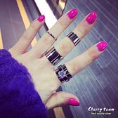 單鑽造型四件組戒指 【櫻桃飾品】【20403】