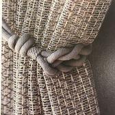 窗簾綁帶 卡丹納窗簾綁帶系帶扎束扣北歐式掛鉤掛繩子簡約現代設計師窗簾扣 生活主義