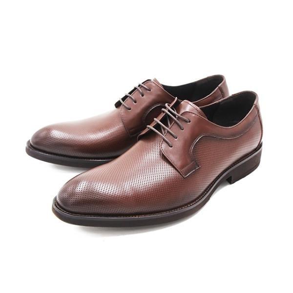 【南紡購物中心】WALKING ZONE(男) 尖頭暗紋綁帶皮鞋 男鞋-深咖(另有黑)