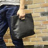 小P男包新品時尚男士手提包公事包潮流檔包男小包休閒斜背包 朵拉朵衣櫥
