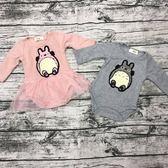【現貨】嬰兒 男女寶寶包屁衣 豆豆龍長袖包屁衣