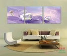 無框畫裝飾畫夢幻紫羅蘭裝飾掛壁畫臥室餐廳...
