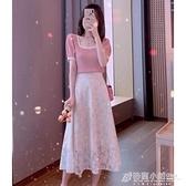 御姐輕熟赫本風炸街洋氣女神范職業氣質溫柔風連身裙兩件套裝女夏 秋季新品