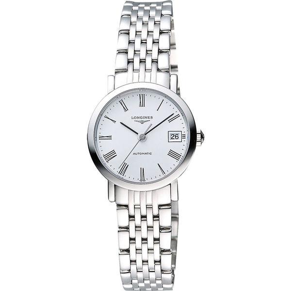 LONGINES 浪琴 Elegant Collection 羅馬時尚機械女錶-白 L43094116