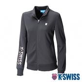 【超取】K-SWISS Knit Jacket運動外套-女-黑