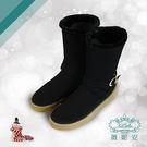 WNA薇妮安羊皮毛防滑保暖靴(古典黑)-...