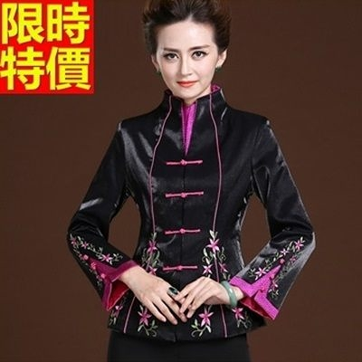 唐裝上衣-春款復古優雅刺繡修身女中式禮服66ac13【時尚巴黎】