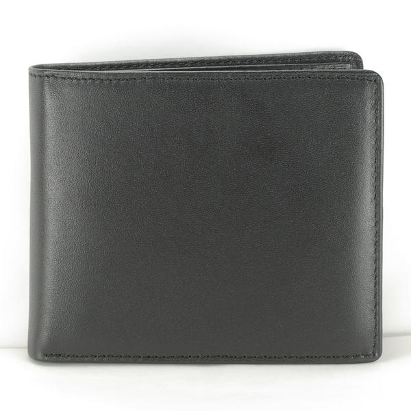 典藏男短夾真皮皮夾 7卡相片零錢袋 黑色 付費客製刻字服務