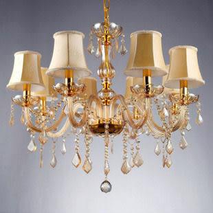 設計師美術精品館奧華水晶吊燈 歐式水晶燈 餐廳燈具 臥室 飯廳 客廳燈飾 香檳金色