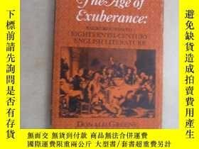 二手書博民逛書店英文書:THE罕見AGE OF EXUBERANCE DONALD GREENE 共184頁 32開 詳見圖片