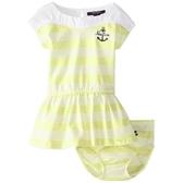 Nautica 短袖洋裝+內褲 二件組 黃橫條 | 女寶寶連衣裙(嬰幼兒/兒童/小孩)
