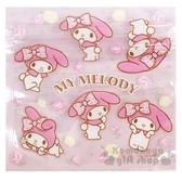 〔小禮堂〕美樂蒂 方形透明夾鏈袋組《S.6入.粉》分類袋.糖果袋.銅板小物 4904555-05531