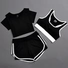 夏季 運動套裝女瑜伽服運動三件套跑步健身...