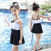 兒童泳衣 兒童泳衣女 女童游泳衣小中大童寶寶連體小公主裙式可愛時尚泳裝 紓困振興