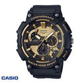 CASIO 黑金指針大錶面三眼膠帶錶 50mm MCW-200H-9A 學生錶 當兵軍用錶 公司貨   名人鐘錶