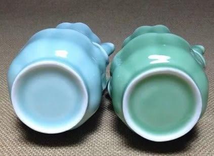 [協貿國際]  青瓷象耳雙環花瓶常用新房裝飾 (1入)