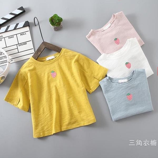 短袖女童短袖T恤2020新款兒童夏季裝純棉圓領上衣女寶寶打底衫童裝半袖