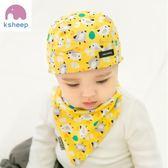 嬰兒帽子0-3-6-12個月男女寶寶帽子秋冬季胎帽海盜帽純棉頭巾春秋