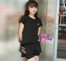 依芝鎂-B427瑜珈服萊塢三件式路跑健身服路跑短褲正品,整套售價1200元