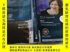 二手書博民逛書店ACCA罕見F5 Performance Management(