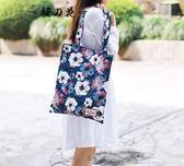 帆布包 HKS-HOMME ins印花斜挎包女韓版潮兩用購物袋單肩包百搭學生書包  蒂小屋服飾