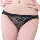 思薇爾-深V誘惑系列M-XL蕾絲低腰三角內褲(黑色)