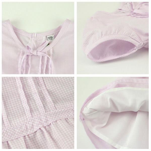 【愛的世界】純棉後扣內裡短袖洋裝/3~4歲-台灣製- ★春夏洋裝