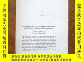 二手書博民逛書店1925年民國外文資料:THE罕見REPRODUCTIVE DI