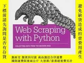 二手書博民逛書店Web罕見Scraping With Python-用Python進行Web抓取Y436638 Ryan Mi