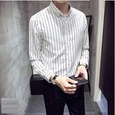 襯衫男長袖韓版男士時尚透氣襯衣潮流男士新品休閒襯衫-【全館免運】