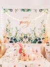 掛布ins背景布網紅少女北歐植物墻布宿舍床頭掛畫裝飾掛毯背景墻 麻吉好貨