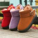 MG 雪地靴寶寶加厚棉鞋男童短靴童鞋