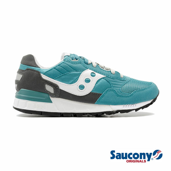 SAUCONY SHADOW 5000 經典復古鞋款-湖水綠x灰x白