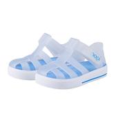 IGOR 西班牙經典果凍小童鞋-霧白/藍/白