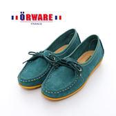 ORWARE-「超柔軟」MIT彩虹底麂皮袋鼠鞋 652003-12(綠)